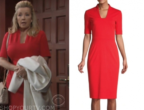 nikki newman, the young and the restless, red dress, melody thomas scott
