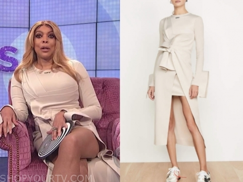 wendy williams, the wendy williams show, ivory asymmetric dress