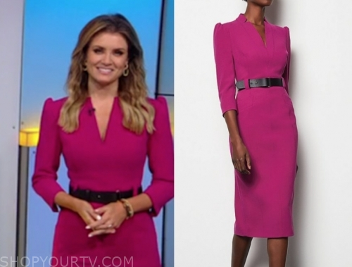 jillian mele, fox and friends, pink belted dress