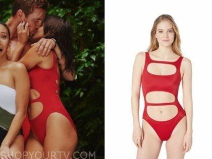 hannah ann s., the bachelor, red cutout swimsuit