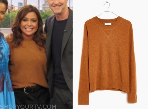 rachael ray, orange cashmere sweater, the rachael ray show
