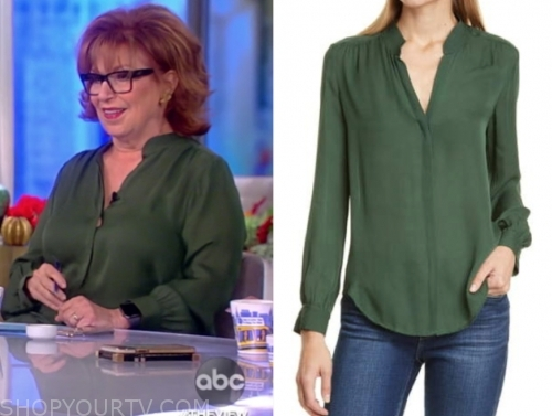 the view, joy behar, green blouse