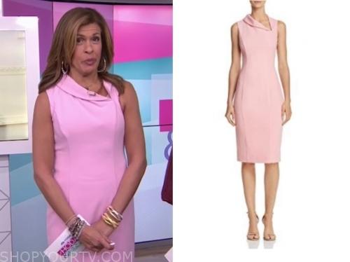 hoda kotb, the today show, pink sheath dress