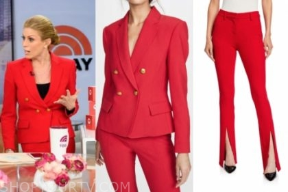 jill martin, the today show, red pant suit