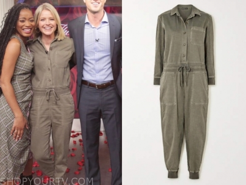 sara haines, gma3, green jumpsuit