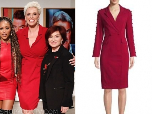 brigitte nielsen, the talk, red blazer dress