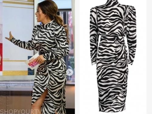 bobbie thomas, the today show, zebra dress