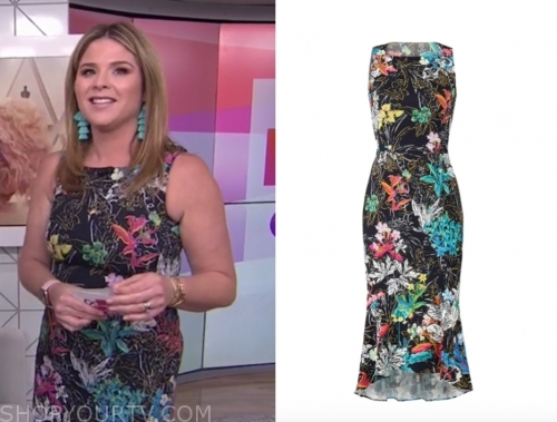 jenna bush hager, the today show, floral sheath dress