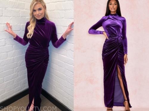 tanya rad, purple velvet gown, E! news
