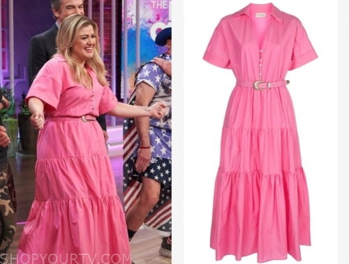 kelly clarkson, the kelly clarkson show, pink midi dress