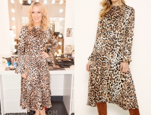 charlotte hawkins, good morning britain, leopard dress