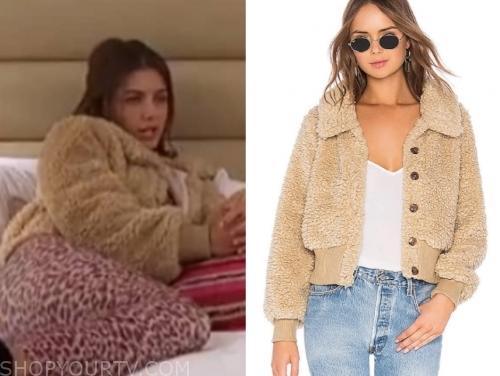 hannah ann s., the bachelor, brown teddy jacket