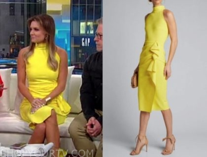 jillian mele, fox and friends, yellow dress