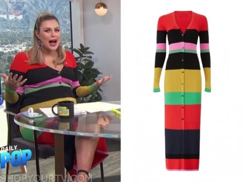 carissa culiner, E! news, daily pop, colorblock stripe dress
