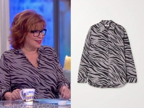 the view, joy behar, zebra blouse
