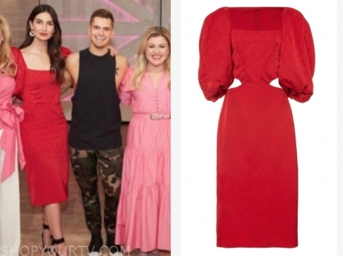 lily aldridge, the kelly clarkson show, red dress