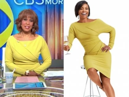 gayle king, yellow dress, cbs this morning