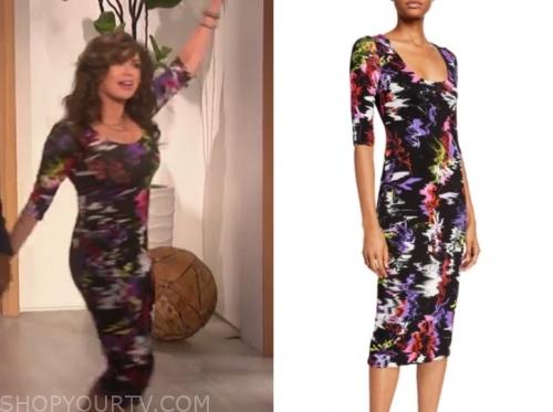 marie osmond, the talk, floral dress