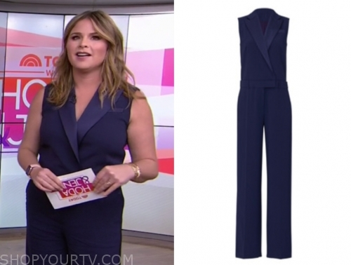 jenna bush hager, the today show, blue tuxedo jumpsuit