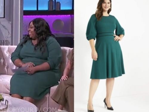 the real, green dress, loni love