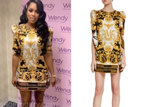 remy ma, the wendy williams show, baroque mini dress