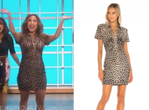carrie ann inaba, the real, leopard dress