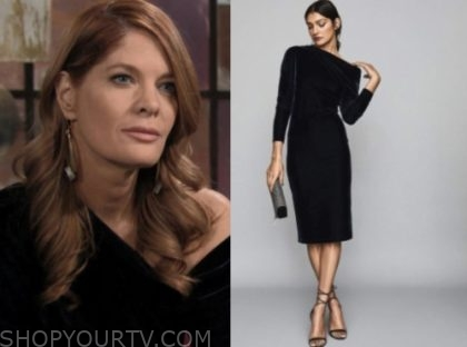 michelle stafford, the young and the restless, velvet dress, phyllis newman