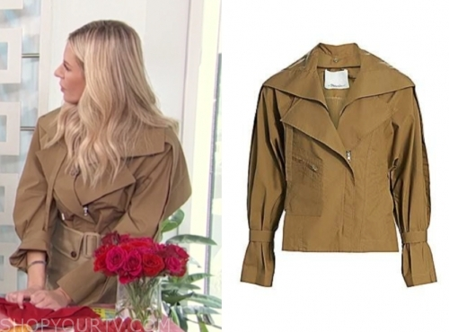 morgan stewart, trench jacket, e! news, daily pop
