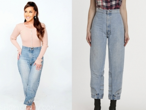 adrienne bailon, the real, high waisted jeans