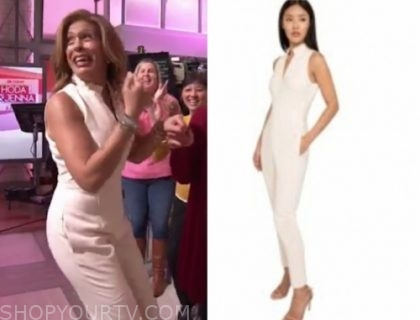 hoda kotb, the today show, hoda and jenna, ivory jumpsuit