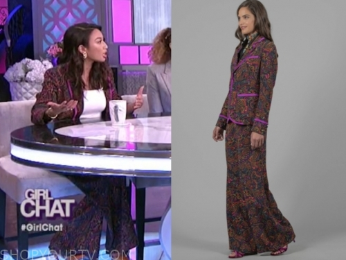 jeannie mai, the real, paisley print suit