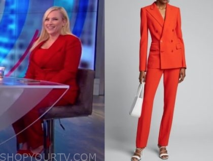 meghan mccain, the view, red pant suit