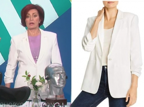 the talk, sharon osbourne, white blazer