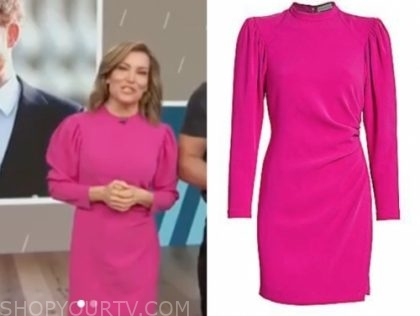 kit hoover, access hollywood, hot pink dress