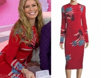 jill martin, the today show, red floral dress
