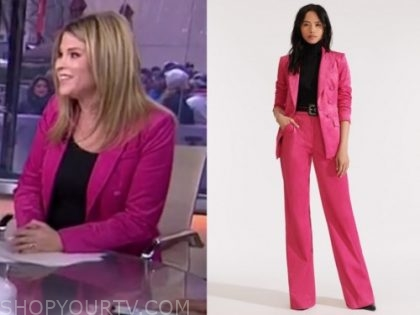 the today show, jenna bush hager, pink corduroy pant suit