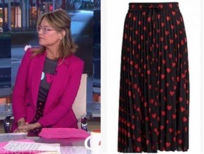 savannah guthrie, heart skirt, the today show