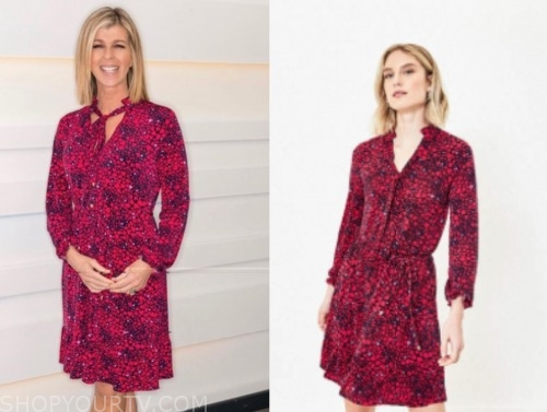 kate garrawy, good morning britain, heart print dress