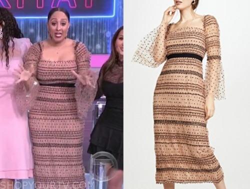 tamera mowry, the real, tulle dot dress