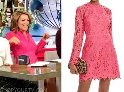 kit hoover, pink lace dress, access hollywood