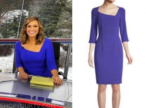 lisa boothe, fox and friends, blue asymmetric neckline dress