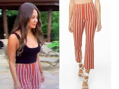 kelley f., the bachelor, striped pants