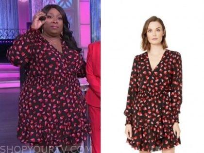 the real, loni love, printed dress