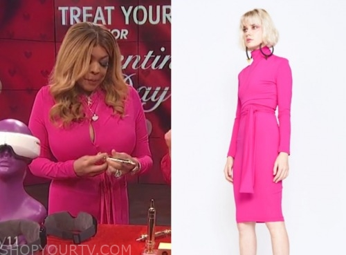 wendy williams, the wendy williams show, hot pink dress