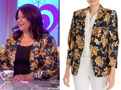 the view, printed blazer, ana navarro