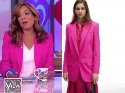 sunny hostin, the view, hot pink blazer