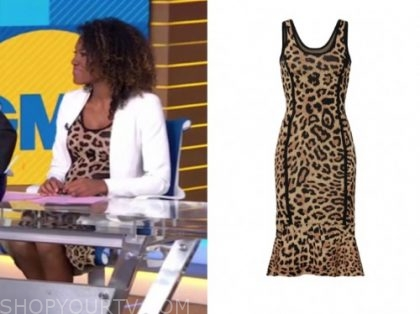 janai norman, gma, leopard dress