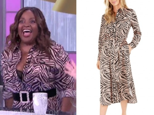 sherri shepherd, the real, zebra dress