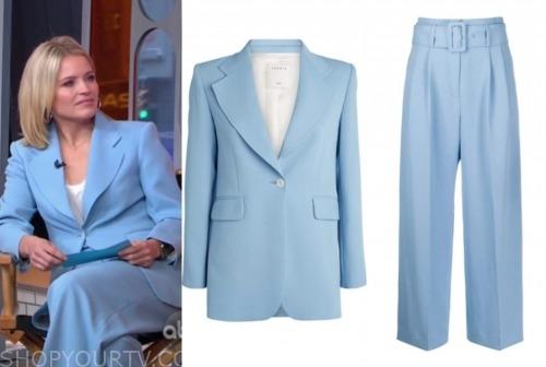 sara haines, gma3, blue pant suit