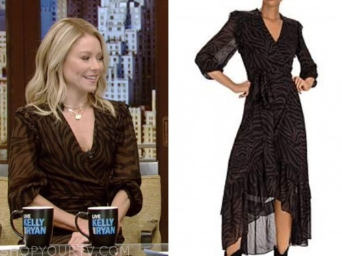 kelly ripa, live with kelly and ryan, zebra midi dress